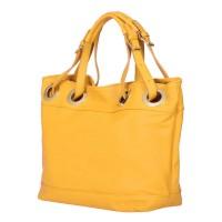 Дамска чанта от естествена кожа Stella, жълта