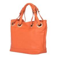 Дамска чанта от естествена кожа Stella, оранжева