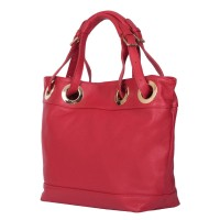 Дамска чанта от естествена кожа Stella, червена