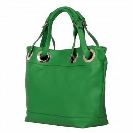 Дамска чанта от естествена кожа Stella, зелена