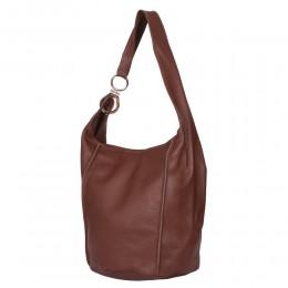 Дамска чанта от естествена кожа Rosana, кафява