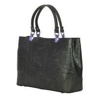 Дамска чанта от естествена кожа Sharon, зелена