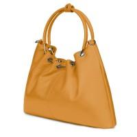 Дамска кожена чанта Venezia, жълта