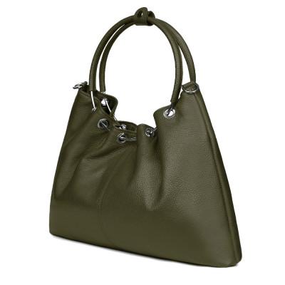 Дамска кожена чанта Venezia, зелена