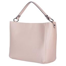 Дамска чанта от естествена кожа Victoria, бежова