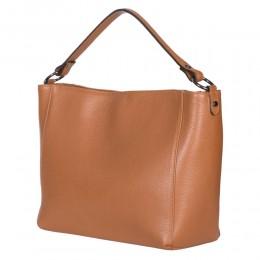 Дамска чанта от естествена кожа Victoria, коняк