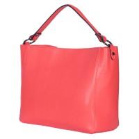 Дамска чанта от естествена кожа Victoria, корал