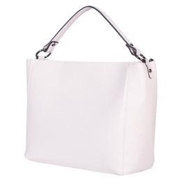 Дамска чанта от естествена кожа Victoria, светло бежова
