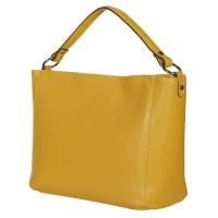 Дамска чанта от естествена кожа Victoria, жълта