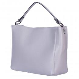Дамска чанта от естествена кожа Victoria, сива