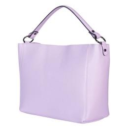 Дамска чанта от естествена кожа Victoria, лилава
