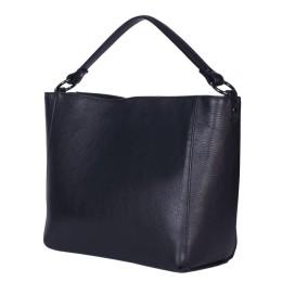 Дамска чанта от естествена кожа Victoria, черна