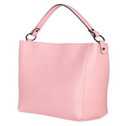 Дамска чанта от естествена кожа Victoria, розова
