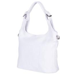 Дамска чанта от естествена кожа Serena, бяла