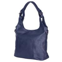 Дамска чанта от естествена кожа Serena, тъмносиня