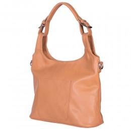 Дамска чанта от естествена кожа Serena, коняк
