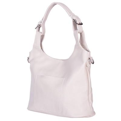 Дамска чанта от естествена кожа Serena, светло бежова