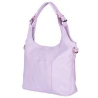 Дамска чанта от естествена кожа Serena, лилава