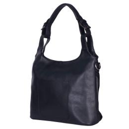 Дамска чанта от естествена кожа Serena, черна
