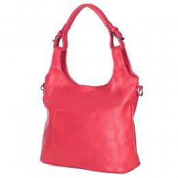 Дамска чанта от естествена кожа Serena, червена