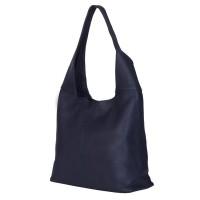 Дамска чанта от естествена кожа Aida, тъмносиня