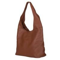 Дамската чанта от естествена кожа Aida, коняк