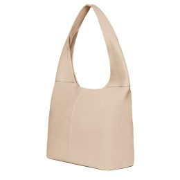 Дамска чанта от естествена кожа Aida, светло бежова