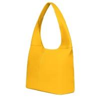 Дамска чанта от естествена кожа Aida, жълта