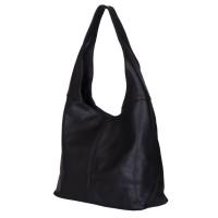 Дамска чанта от естествена кожа Aida, черна