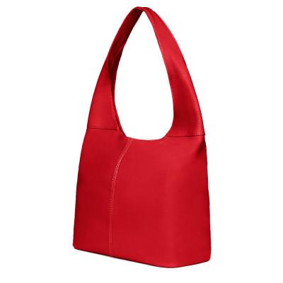 Дамска чанта от естествена кожа Aida, червена