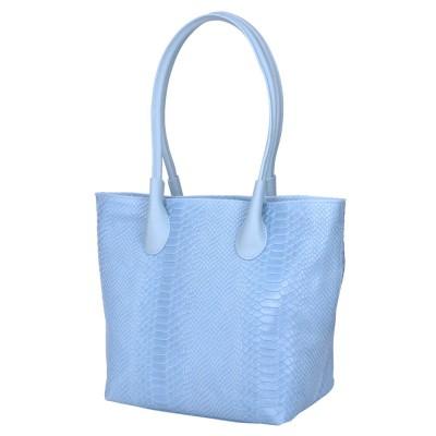 Чанта тип портмоне от естествена кожа Ava, светло синя