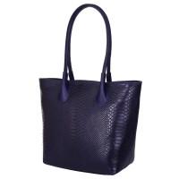 Чанта тип портмоне от естествена кожа Ava, тъмносиня