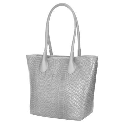 Чантата тип портмоне от естествена кожа Ava, сива