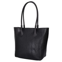 Чантата тип портмоне от естествена кожа Ava, черна