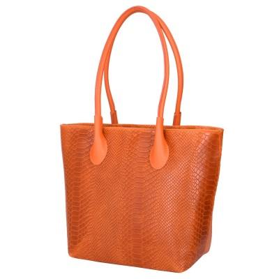 Чантата тип портмоне от естествена кожа Ava, оранжева