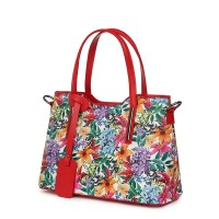 Чанта от естествена кожа с флорални мотиви Mariella FF5