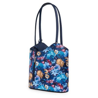 Кожена чанта с флорален мотив Viola FF2