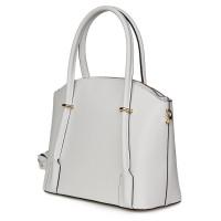 Дамска чанта от естествена кожа Gabriella, бяла
