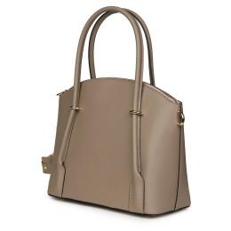Дамска чанта от естествена кожа Gabriella, бежова