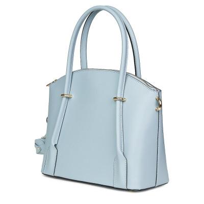 Дамска чанта от естествена кожа Gabriella, светлосиня