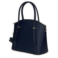 Дамска чанта от естествена кожа Gabriella, тъмносиня
