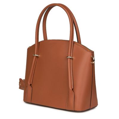 Дамска чанта от естествена кожа Gabriella, коняк