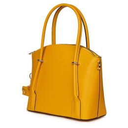 Дамска чанта от естествена кожа Gabriella, жълта