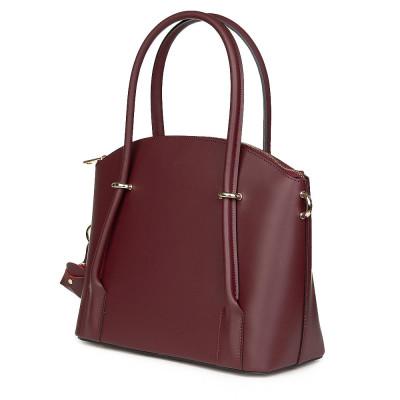 Дамска чанта от естествена кожа Gabriella, бордо