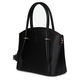 Дамска чанта от естествена кожа Gabriella, черна