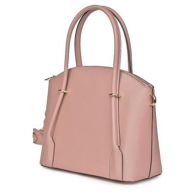 Дамска чанта от естествена кожа Gabriella, розова
