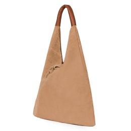 Дамската велурена чанта Dominica, бежова