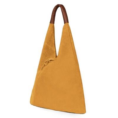 Дамската велурена чанта Dominica, жълта