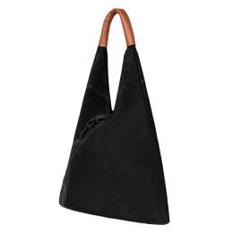 Дамската велурена чанта Dominica, черна