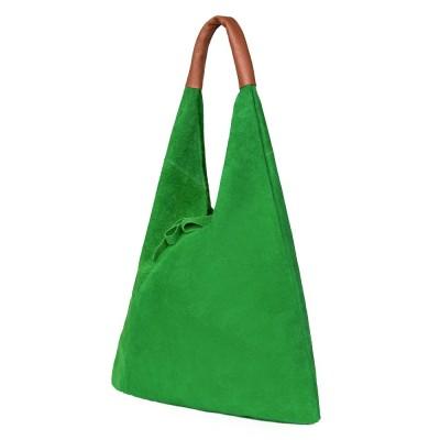 Дамската велурена чанта Dominica, зелена